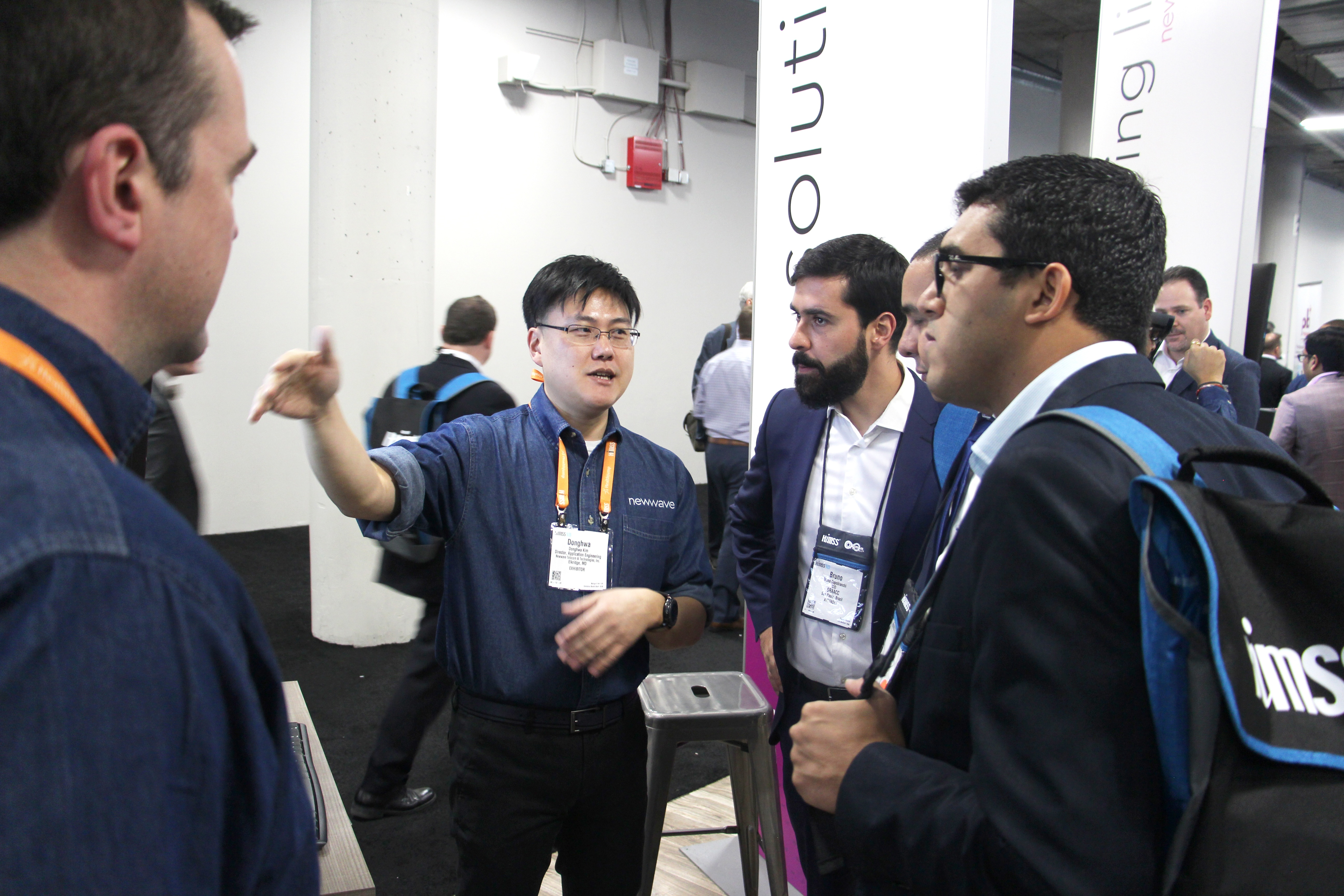 John Kim showcases big data demo to audience
